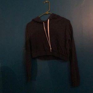 Cropped hoodie navy blue